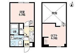ROUTE ONE 平塚(ルート ワン ヒラツカ)[2階]の間取り