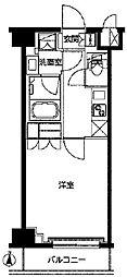 東武東上線 東武練馬駅 徒歩9分の賃貸マンション 6階1Kの間取り