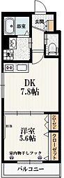 仮称)本町5丁目メゾン 2階1DKの間取り