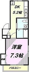 JR中央線 八王子駅 徒歩5分の賃貸マンション 1階1DKの間取り