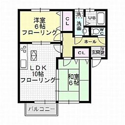 カウベルハウス[2階]の間取り