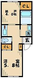 アウローラ南多摩 3階1SKの間取り