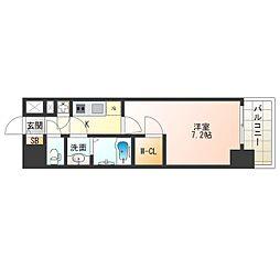 JR大阪環状線 西九条駅 徒歩9分の賃貸マンション 10階1Kの間取り