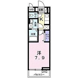 リゼオフラッツ[2階]の間取り