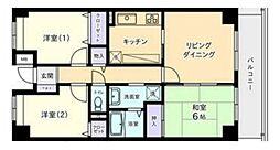 アイリス大宮参番館 4階3LDKの間取り
