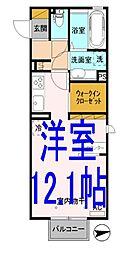 D-room神山一丁目[201号室]の間取り