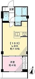 セントエバリュードスクエア 1階1LDKの間取り