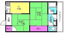聖寿荘[203号室]の間取り