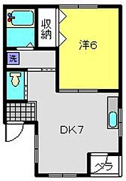 第二西村ビル[301号室]の間取り
