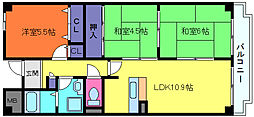 オルテンシアKOBE[3階]の間取り