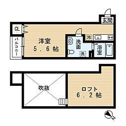 K−PLACE(ケイプレイス)[2階]の間取り