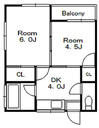 カブトハイツ[2階]の間取り