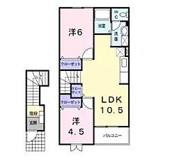 ブルックヤードC[2階]の間取り