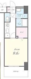 JR山手線 神田駅 徒歩3分の賃貸マンション 9階1Kの間取り