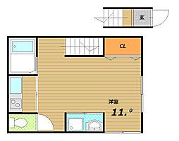 トミヤマハイツ[2階]の間取り