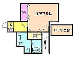 ウォブ福島[5階]の間取り