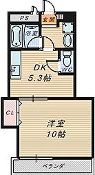 ハピネス1番館[2階]の間取り