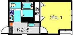 神奈川県川崎市川崎区旭町2丁目の賃貸アパートの間取り