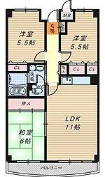 セントポーリア奥田北館[2階]の間取り