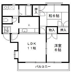 八丁堀ジェンシアン[2階]の間取り