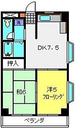 コスモ佐野第2[3階]の間取り