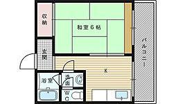 淡路タカラハイツ[4階]の間取り