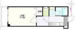 東京メトロ有楽町線 要町駅 徒歩1分の賃貸マンション 1階1Kの間取り