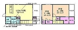 シャーメゾン豊島 1階2LDKの間取り