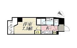 GRANPASEO麻布十番 グランパセオ麻布十番 13階1Kの間取り