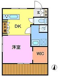 埼玉県さいたま市大宮区寿能町1丁目の賃貸アパートの間取り