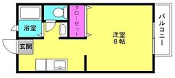 兵庫県加古郡播磨町東本荘2丁目の賃貸アパートの間取り