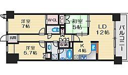 クレヴィア江坂イーストサイド 13階3LDKの間取り