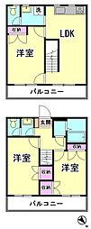 [テラスハウス] 東京都大田区南馬込4丁目 の賃貸【/】の間取り