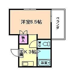 大阪府豊中市末広町2丁目の賃貸アパートの間取り