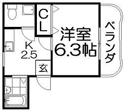 香里ニートネス[3階]の間取り
