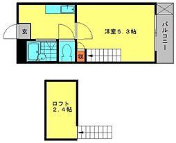 メルティングホーム[101号室]の間取り