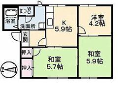 コーポじゅえい[1階]の間取り