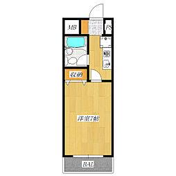 ベアーズマンション上十条[4階]の間取り
