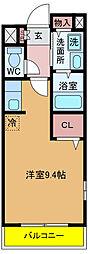 千葉県松戸市小金きよしケ丘5丁目の賃貸アパートの間取り