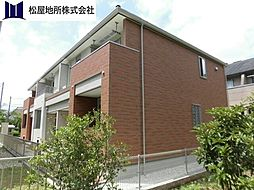 愛知県豊橋市大岩町字車田の賃貸アパートの外観