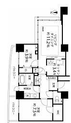 河田町コンフォガーデン2号棟[7階]の間取り
