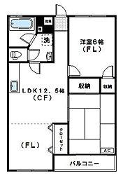 神木ロイヤルマンション[305号室]の間取り