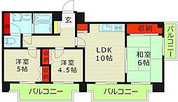 ICube都島(アイキューブ都島) 8階3LDKの間取り