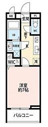 東武野田線 大宮公園駅 徒歩13分の賃貸アパート 3階1Kの間取り