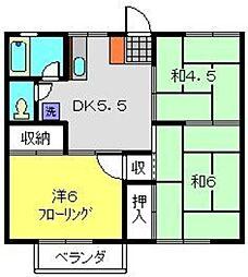 グリーンハイツA[2階]の間取り