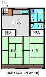 神奈川県横浜市磯子区岡村3丁目の賃貸マンションの間取り