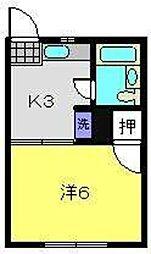 RHO'S HOUSE[202号室]の間取り