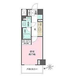 東京メトロ有楽町線 江戸川橋駅 徒歩6分の賃貸マンション 5階1Kの間取り