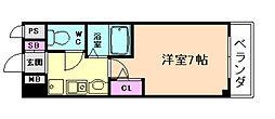 ラナップスクエア同心Ⅱ[4階]の間取り