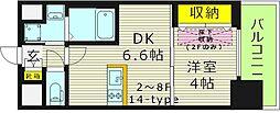 WOB京橋[5階]の間取り
